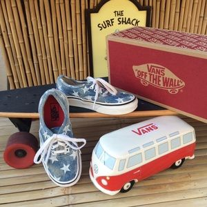 Vans Classic Canvas Low Top Sneakers Kids Size 12